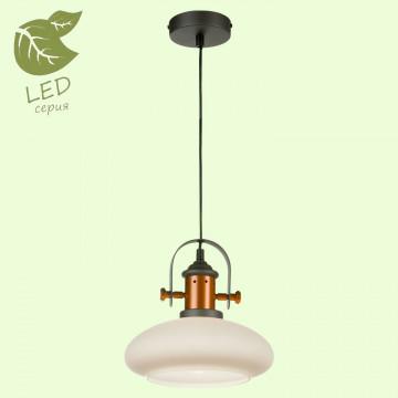 Подвесной светильник Lussole Loft Binghamton GRLSP-9845, IP21, 1xE27x10W, черный, белый, металл, стекло