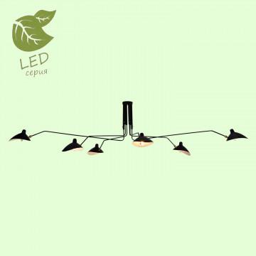 Потолочная люстра с регулировкой направления света Lussole Loft Fairbanks GRLSP-9562, IP21, 6xE14x6W, черный, металл