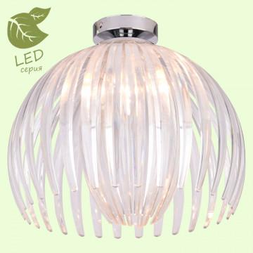 Потолочный светильник Lussole LGO Hockessin GRLSP-9538, IP21, 1xE14x6W, хром, прозрачный, металл, пластик