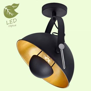 Потолочный светильник с регулировкой направления света Lussole Loft Sherrelwood GRLSP-9825, IP21, 1xE27x10W, черный, оранжевый, металл