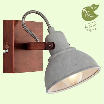 Настенный светильник с регулировкой направления света Lussole Loft Durango GRLSP-9828, IP21, 1xE14x6W, медь, серый, металл