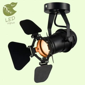 Потолочный светильник с регулировкой направления света Lussole Loft Thornton GRLSP-9838, IP21, 1xE14x6W, черный, металл