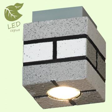 Потолочный светильник Lussole Loft Mount Vernon GRLSP-9686, IP21, 1xGU10x5,5W, серый, металл