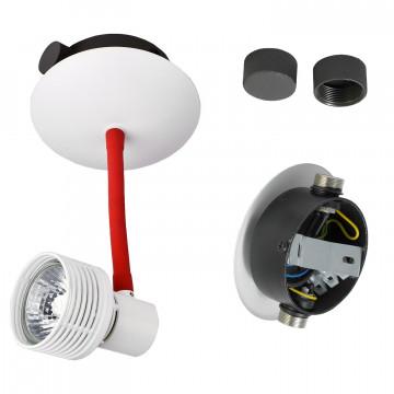 Светильник с регулировкой направления света для модульной системы Lussole Loft Bay Shore GRLSP-9818, IP21, 1xGU10x5,5W, белый, красный, металл