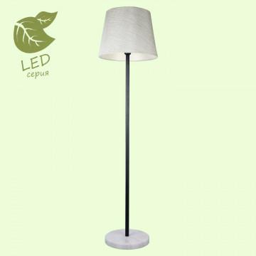 Торшер Lussole LGO Marble GRLSP-9547, IP21, 1xE27x10W, черный, черно-белый, белый, металл, мрамор, текстиль