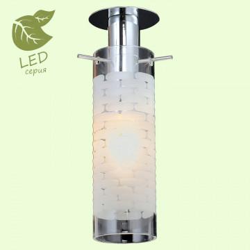 Встраиваемый светильник Lussole LGO Leinell GRLSP-9551, IP21, 1xE14x6W, хром, белый, металл, стекло