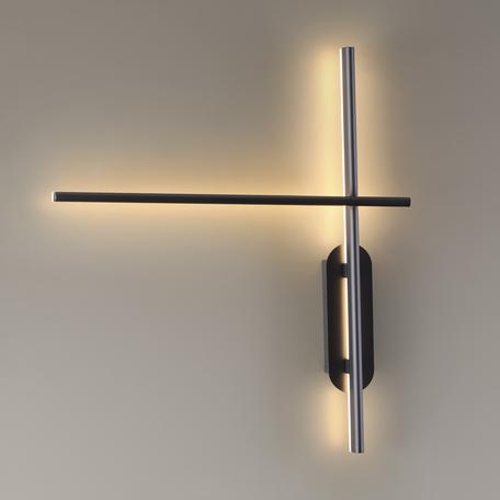 Настенный светодиодный светильник Odeon Light L-Vision Rudy 3890/20WL, LED 20W 3000K 1100lm, черный, металл