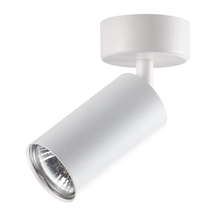 Потолочный светильник с регулировкой направления света Novotech Pipe 370394, 1xGU10x50W, белый, металл - фото 1