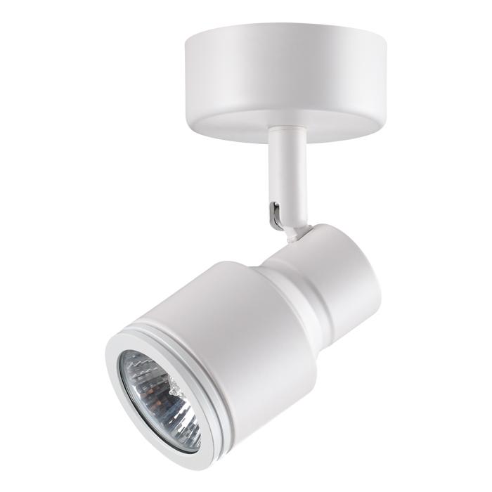 Потолочный светильник с регулировкой направления света Novotech Pipe 370396, 1xGU10x50W, белый, металл - фото 1