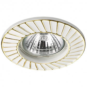 Встраиваемый светильник Novotech Keen 370370, 1xGU5.3x50W, белый, золото, металл
