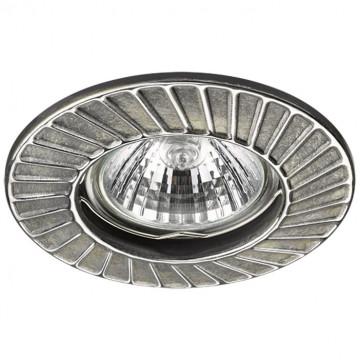 Встраиваемый светильник Novotech Keen 370373, 1xGU5.3x50W, серебро, хром, металл