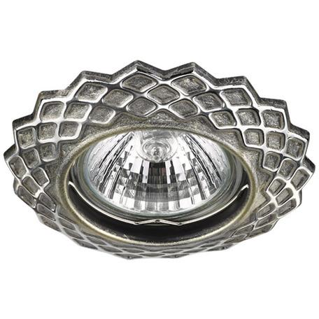 Встраиваемый светильник Novotech Keen 370377, 1xGU5.3x50W, серебро, металл