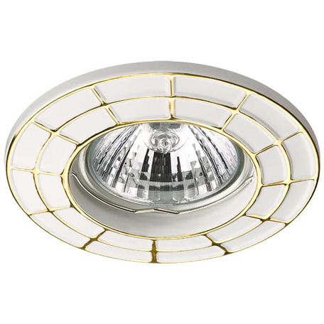 Встраиваемый светильник Novotech Keen 370378, 1xGU5.3x50W, белый, золото, металл - миниатюра 1