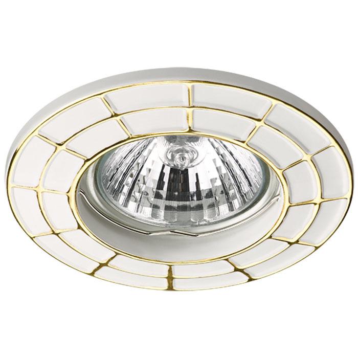 Встраиваемый светильник Novotech Keen 370378, 1xGU5.3x50W, белый, золото, металл - фото 1