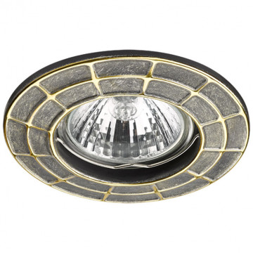 Встраиваемый светильник Novotech Keen 370380, 1xGU5.3x50W, бронза, золото, металл