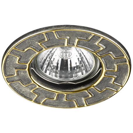 Встраиваемый светильник Novotech Keen 370384, 1xGU5.3x50W, бронза, золото, металл