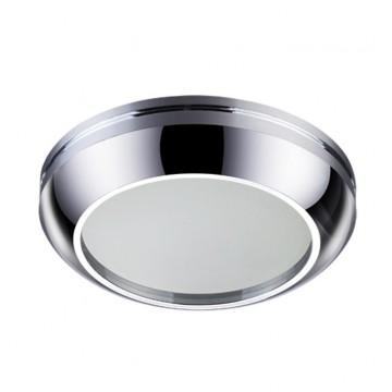 Встраиваемый светильник Novotech Damla 370386, IP44, 1xGU5.3x50W, хром, металл, стекло