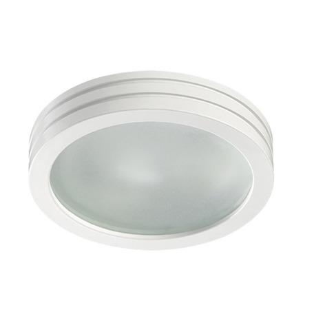 Встраиваемый светильник Novotech Damla 370389, IP44, 1xGU5.3x50W, белый, металл, стекло