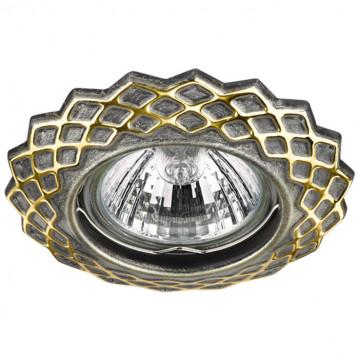 Встраиваемый светильник Novotech Keen 370376, 1xGU5.3x50W, бронза, металл
