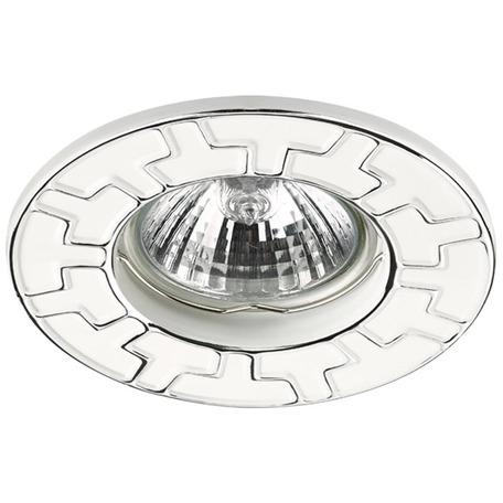 Встраиваемый светильник Novotech Keen 370383, 1xGU5.3x50W, хром, белый, металл