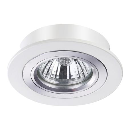 Встраиваемый светильник Novotech Morus 370390, 1xGU5.3x50W, белый, металл