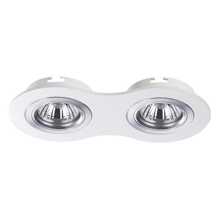 Встраиваемый светильник Novotech Spot Morus 370391, 2xGU5.3x50W, белый, металл - фото 1