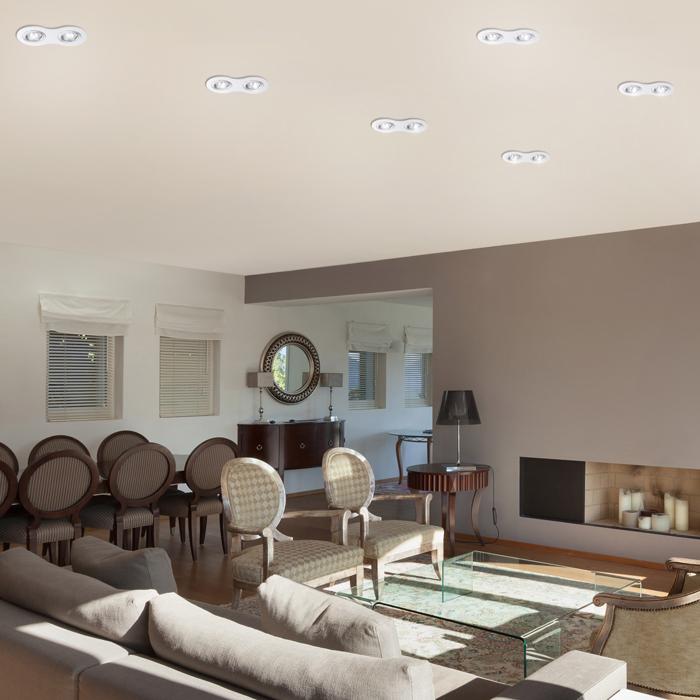 Встраиваемый светильник Novotech Spot Morus 370391, 2xGU5.3x50W, белый, металл - фото 3