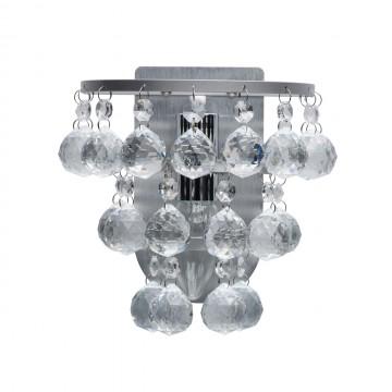 Бра MW-Light Венеция 276024801, серебро, прозрачный, металл, хрусталь