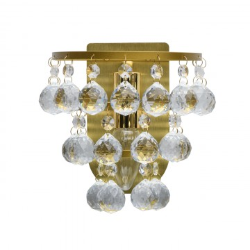 Бра MW-Light Венеция 276024901, матовое золото, прозрачный, металл, хрусталь