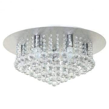 Потолочная люстра MW-Light Венеция 276014409, серебро, прозрачный, металл, хрусталь