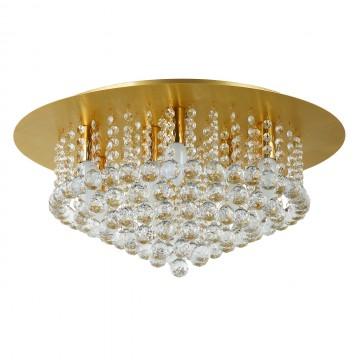 Потолочная люстра MW-Light Венеция 276014509, матовое золото, прозрачный, металл, хрусталь
