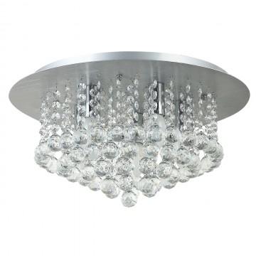 Потолочная люстра MW-Light Венеция 276014605, серебро, прозрачный, металл, хрусталь - миниатюра 1