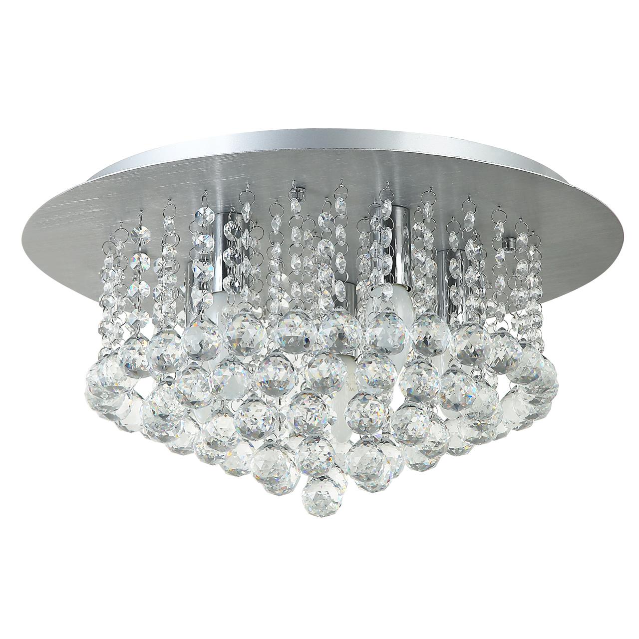 Потолочная люстра MW-Light Венеция 276014605, серебро, прозрачный, металл, хрусталь - фото 1