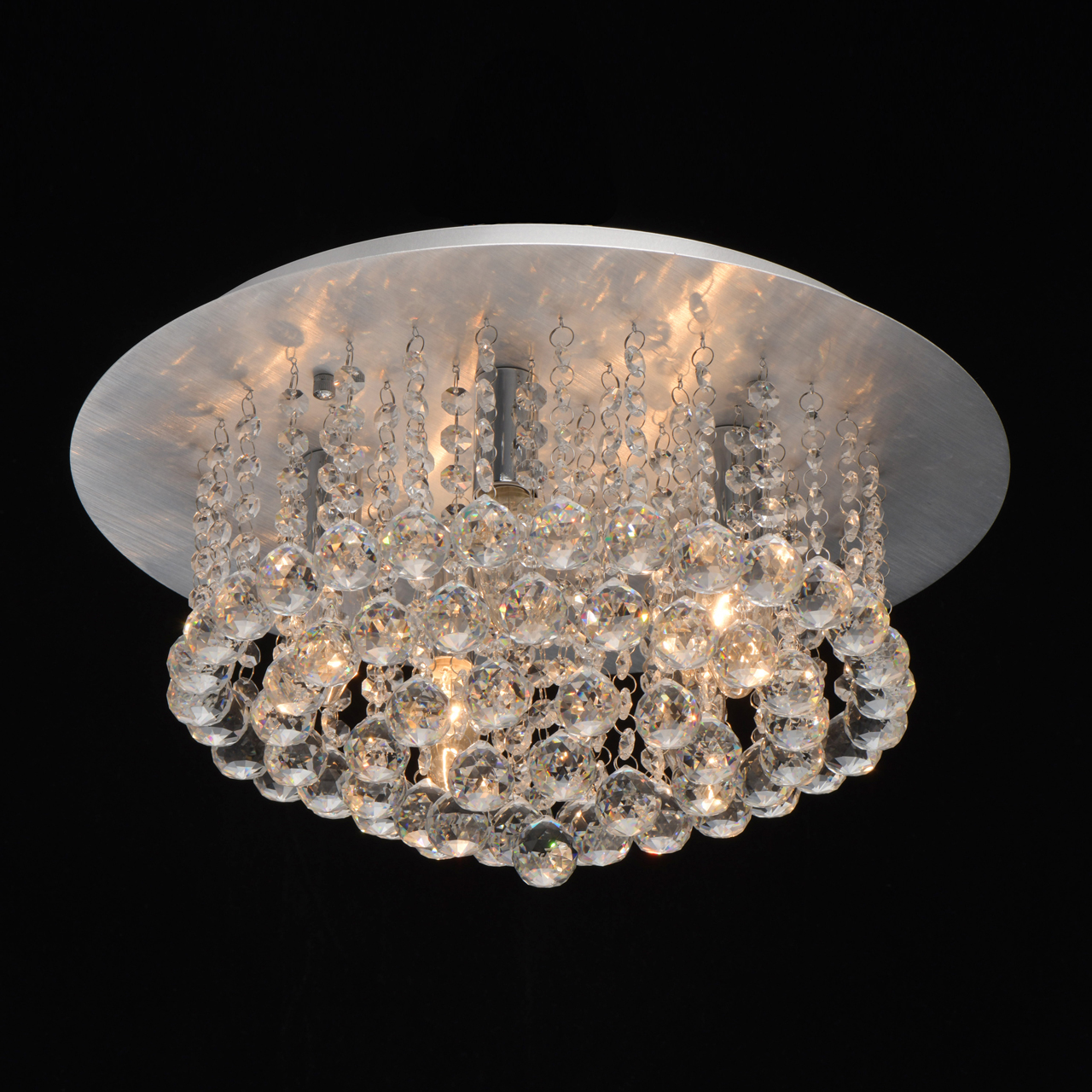 Потолочная люстра MW-Light Венеция 276014605, серебро, прозрачный, металл, хрусталь - фото 2