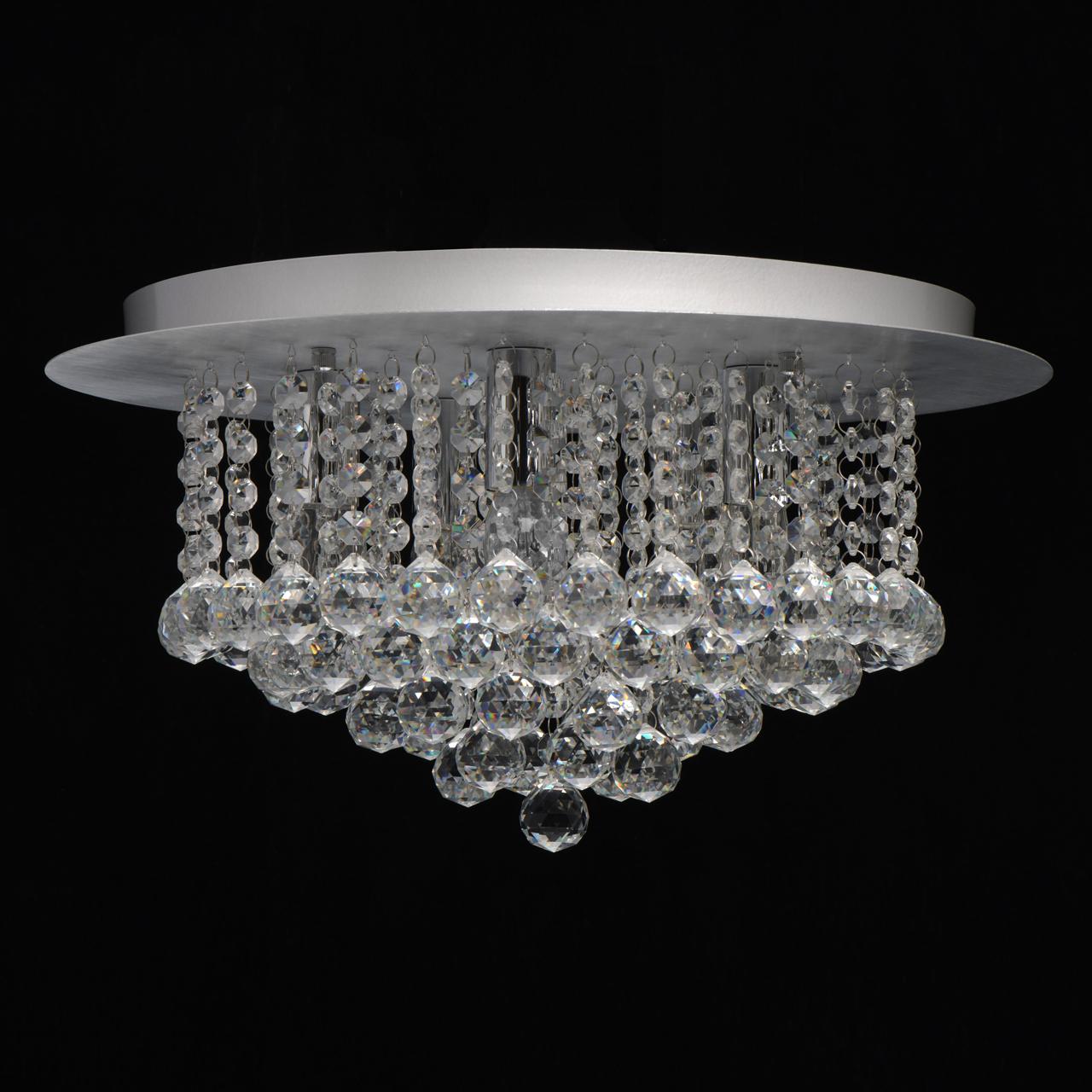 Потолочная люстра MW-Light Венеция 276014605, серебро, прозрачный, металл, хрусталь - фото 3