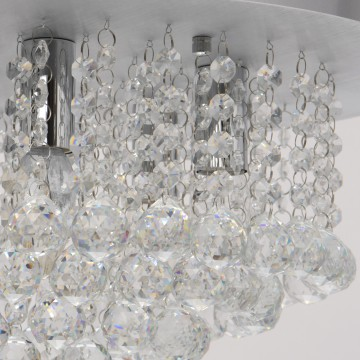 Потолочная люстра MW-Light Венеция 276014605, серебро, прозрачный, металл, хрусталь - миниатюра 5