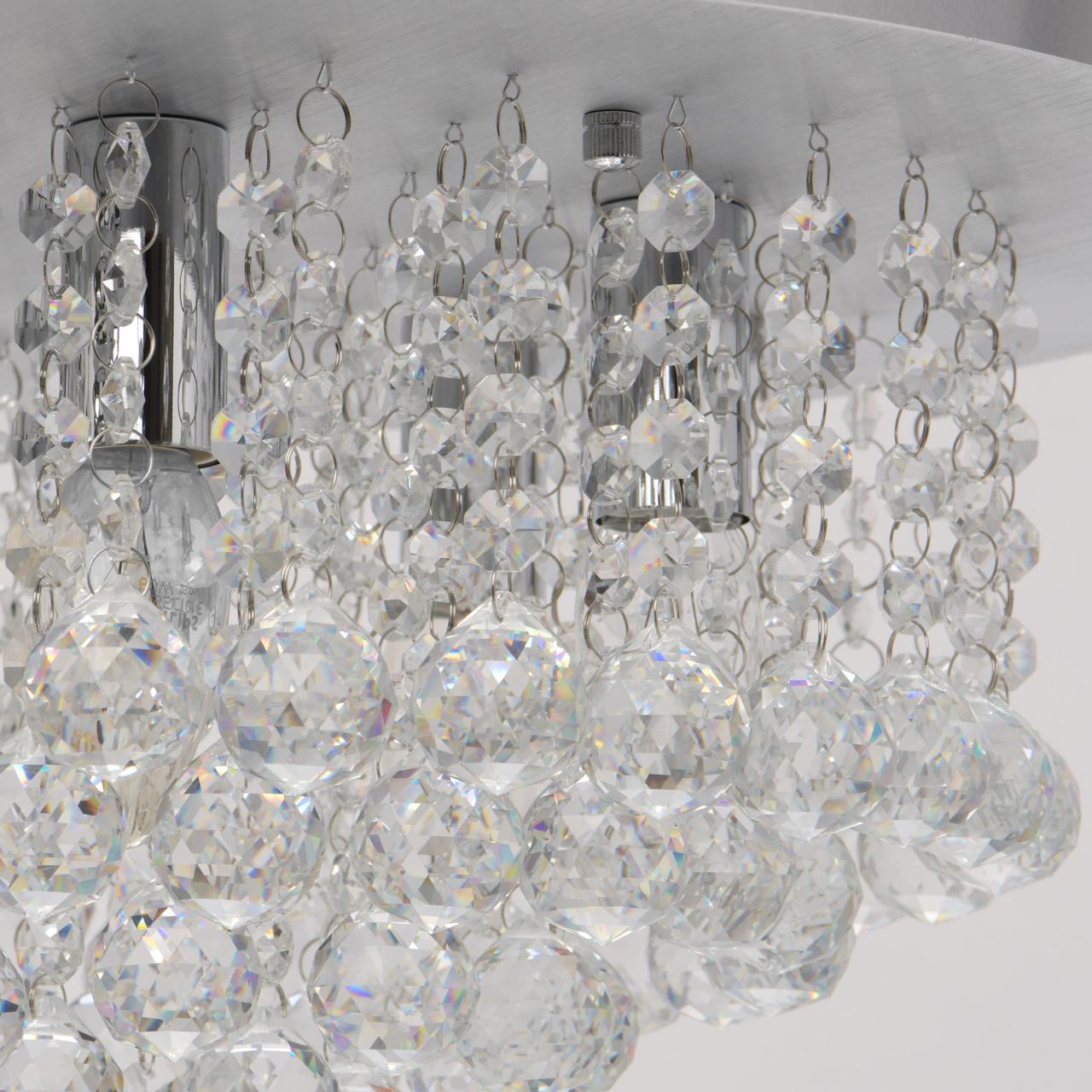 Потолочная люстра MW-Light Венеция 276014605, серебро, прозрачный, металл, хрусталь - фото 5