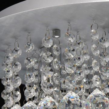 Потолочная люстра MW-Light Венеция 276014605, серебро, прозрачный, металл, хрусталь - миниатюра 6