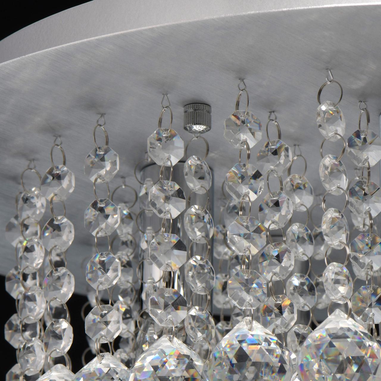 Потолочная люстра MW-Light Венеция 276014605, серебро, прозрачный, металл, хрусталь - фото 6