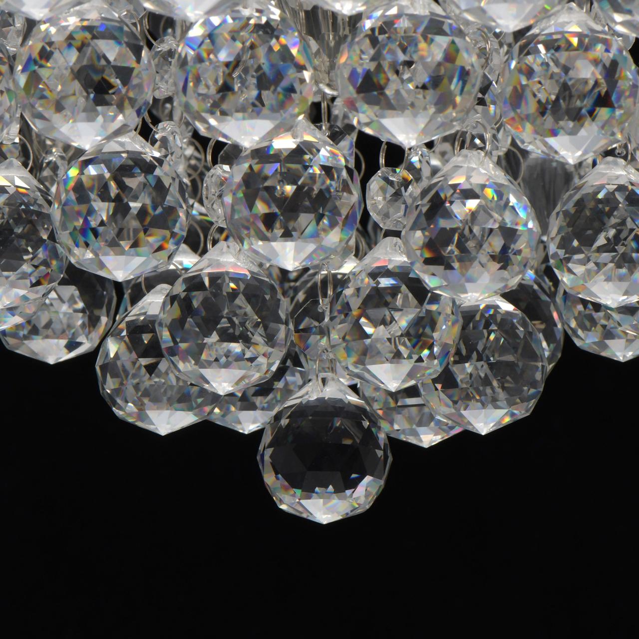 Потолочная люстра MW-Light Венеция 276014605, серебро, прозрачный, металл, хрусталь - фото 8