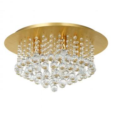 Потолочная люстра MW-Light Венеция 276014705, матовое золото, прозрачный, металл, хрусталь