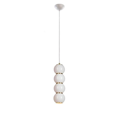 Подвесной светодиодный светильник Loft It Pearls 5045-B, LED, белый, золото, металл, стекло