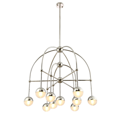 Светильник Crystal Lux TRUENA SP-PL6+3+1 NICKEL 3241/310, 10xG9x5W