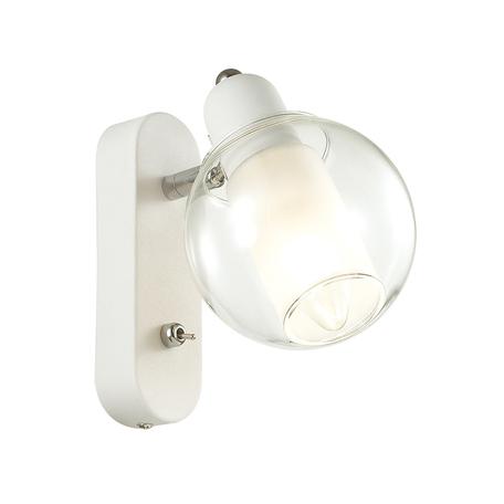 Настенный светильник с регулировкой направления света Lumion Moderni Rita 3648/1W, 1xE14x40W, белый, прозрачный, металл, стекло