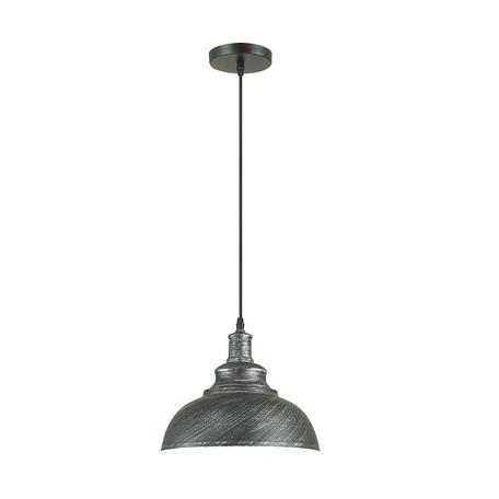 Подвесной светильник Lumion Suspentioni Dario 3676/1, 1xE27x60W, черный, серебро, металл