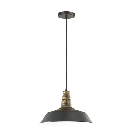 Подвесной светильник Lumion Suspentioni Stig 3677/1, 1xE27x60W, черный, металл