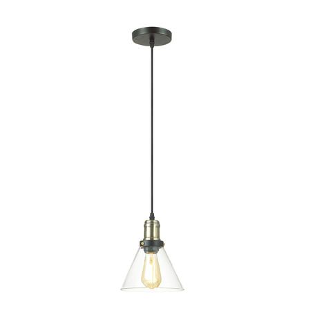 Подвесной светильник Lumion Suspentioni Kit 3682/1, 1xE27x60W, черный, бронза, прозрачный, металл, стекло