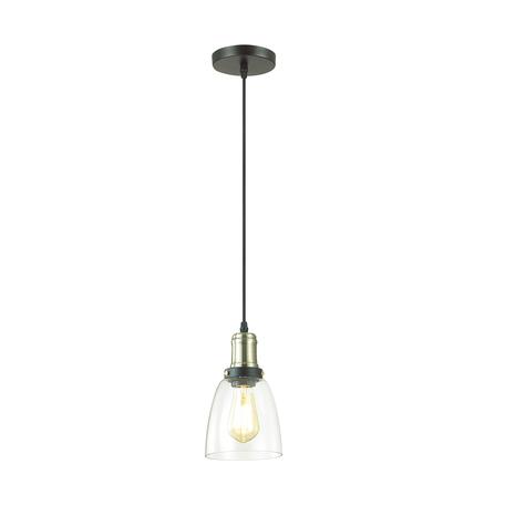 Подвесной светильник Lumion Suspentioni Kit 3683/1, 1xE27x60W, черный, бронза, прозрачный, металл, стекло