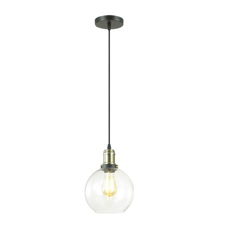Подвесной светильник Lumion Suspentioni Kit 3684/1, 1xE27x60W, черный, бронза, прозрачный, металл, стекло