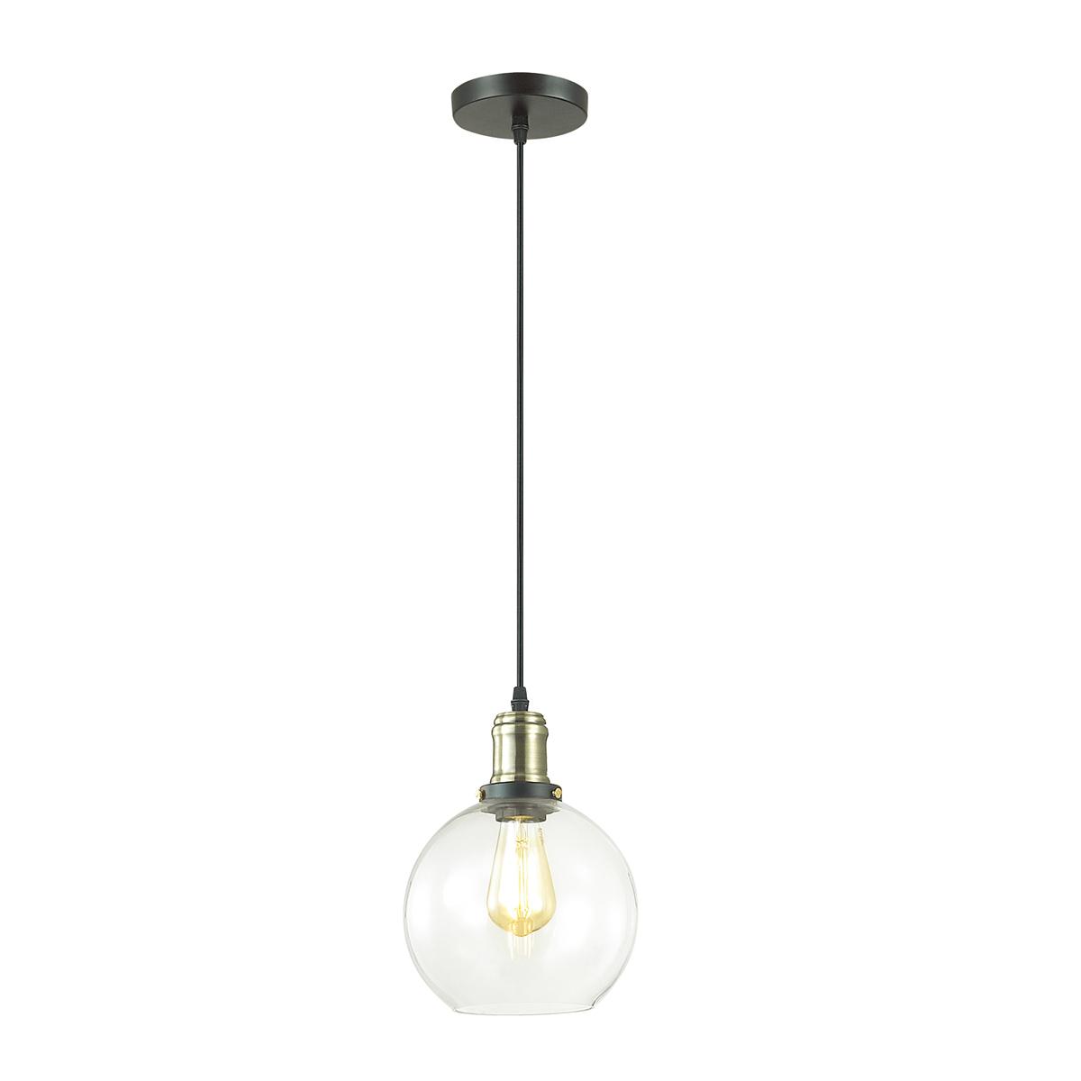 Подвесной светильник Lumion Suspentioni Kit 3684/1, 1xE27x60W, черный, бронза, прозрачный, металл, стекло - фото 1